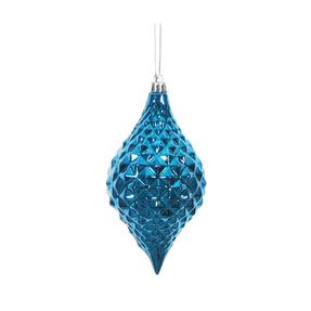 "Elvis Diamond Cut Ornament 6"" Set of 4 Blue"