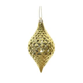 "Elvis Diamond Cut Ornament 6"" Set of 4 Gold"