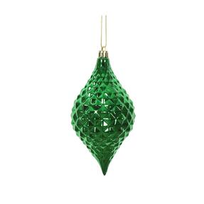 "Elvis Diamond Cut Ornament 6"" Set of 4 Green"