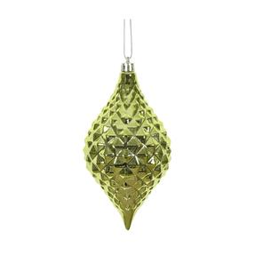 """Elvis Diamond Cut Ornament 6"""" Set of 4 Lime"""