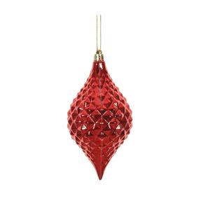 "Elvis Diamond Cut Ornament 6"" Set of 4 Red"
