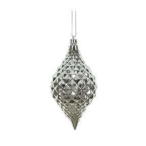 "Elvis Diamond Cut Ornament 6"" Set of 4 Silver"