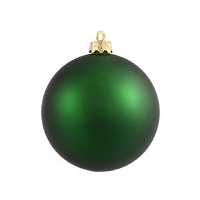 "Emerald Ball Ornaments 4"" Matte Set of 6"