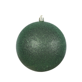 "Emerald Ball Ornaments 6"" Glitter Set of 4"