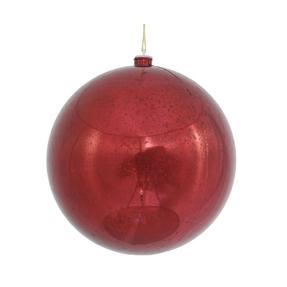"Burgundy Ball Ornaments 8"" Faux Mercury Set of 2"