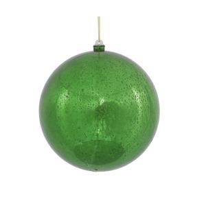 "Green Ball Ornaments 10"" Faux Mercury Set of 2"
