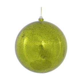 "Lime Ball Ornaments 8"" Faux Mercury Set of 2"