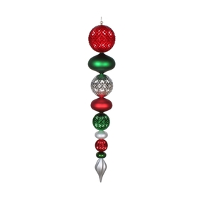 """Fiona Finial 45"""" Red/Green/Silver"""