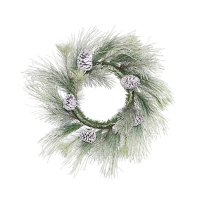 Frosted Brush Pine Wreath 22""
