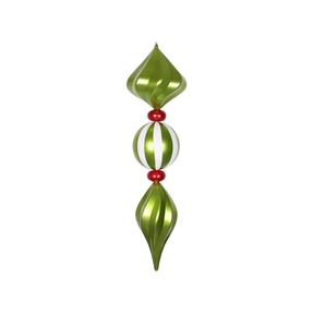 """French Ball Finial 39"""" Lime"""