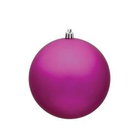 "Fuchsia Ball Ornaments 5"" Matte Set of 4"
