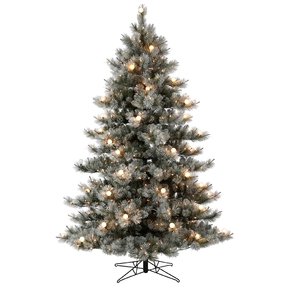 7.5' Frosted Sugar Pine Full Warm White LED