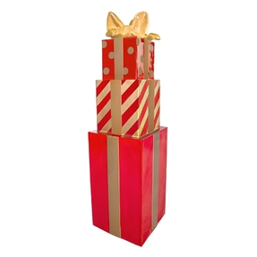 "Christmas Gift Box Tower 67"" Red"