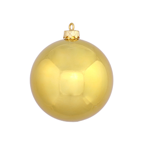 gold ball ornaments 6 shiny set - Large Christmas Ball Ornaments