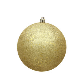 "Gold Ball Ornaments 8"" Sequin Set of 4"