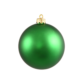 "Green Ball Ornaments 5"" Matte Set of 4"