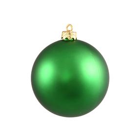 "Green Ball Ornaments 12"" Matte Set of 2"