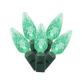 LED C6 150 Light Set Green