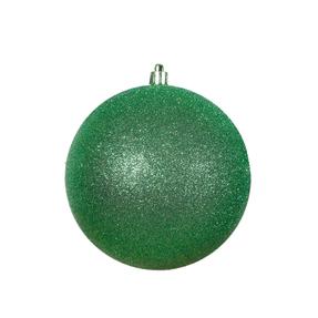 "Green Ball Ornaments 3"" Glitter Set of 12"