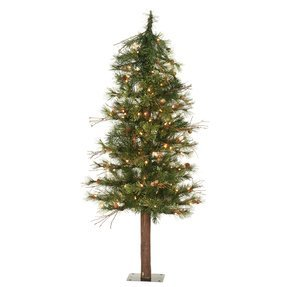 7' Highland Alpine Tree w/Clear Lights