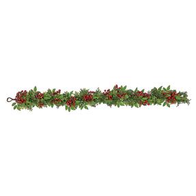 Holiday Boxwood Garland 5'
