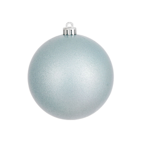 """Ice Blue Ball Ornaments 6"""" Candy Finish Set of 4"""