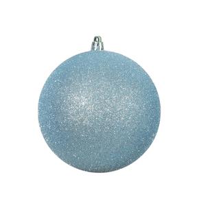 "Ice Blue Ball Ornaments 10"" Glitter Set of 2"