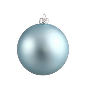 """Ice Blue Ball Ornaments 4"""" Matte Set of 6"""
