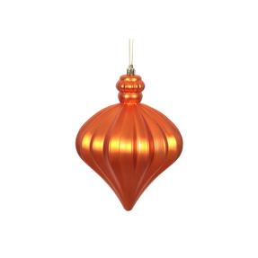"""Isabel Onion Ornament 6"""" Set of 4 Burnished Orange"""