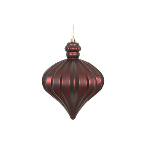 "Isabel Onion Ornament 6"" Set of 4 Burgundy"