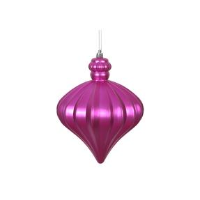 "Isabel Onion Ornament 6"" Set of 4 Fuchsia"