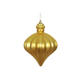 "Isabel Onion Ornament 6"" Set of 4 Gold"