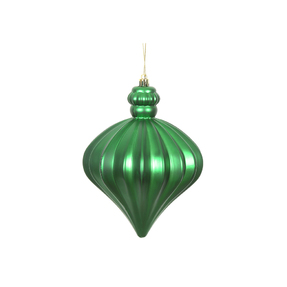 "Isabel Onion Ornament 6"" Set of 4 Green"