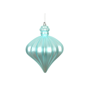 "Isabel Onion Ornament 6"" Set of 4 Ice Blue"