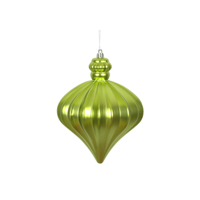 "Isabel Onion Ornament 6"" Set of 4 Lime"