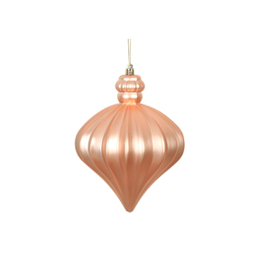 "Isabel Onion Ornament 6"" Set of 4 Rose Gold"