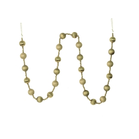 Ivy Ball Garland 6' Champagne