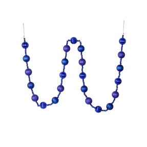 Ivy Ball Garland 6' Cobalt