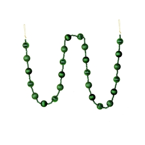 Ivy Ball Garland 6' Emerald