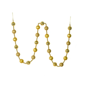 Ivy Ball Garland 6' Gold