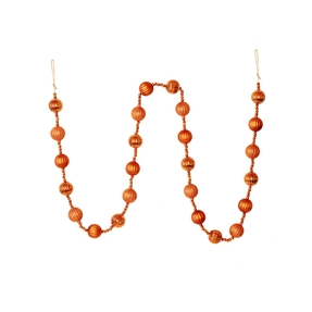 Ivy Ball Garland 6' Orange