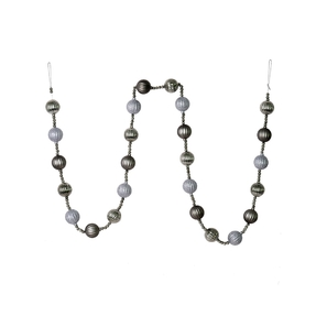 Ivy Ball Garland 6' Pewter
