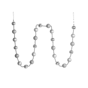 Ivy Ball Garland 6' Silver
