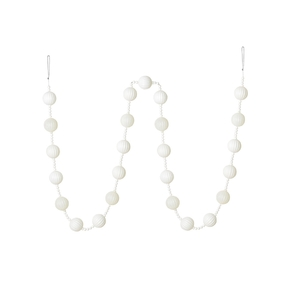 Ivy Ball Garland 6' White