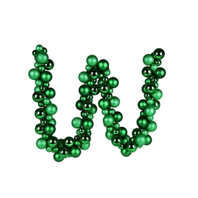 Jolie Ball Garland 6' Green