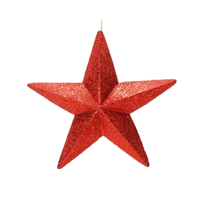 "Spirit Outdoor Glitter Star 23"" Red"