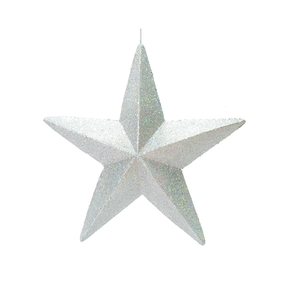"Spirit Outdoor Glitter Star 23"" Silver"