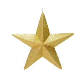 "Spirit Outdoor Glitter Star 23"" Gold"
