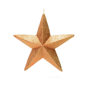 "Spirit Outdoor Glitter Star 23"" Rose Gold"