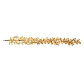 Outdoor Glitter Garland 6' Gold